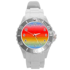 Ombre Round Plastic Sport Watch (l) by ValentinaDesign