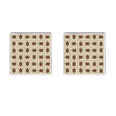 Native American Pattern Cufflinks (square) by linceazul