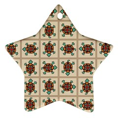 Native American Pattern Star Ornament (two Sides) by linceazul