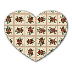 Native American Pattern Heart Mousepads by linceazul