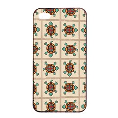 Native American Pattern Apple Iphone 4/4s Seamless Case (black) by linceazul