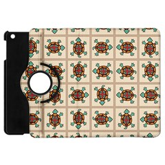 Native American Pattern Apple Ipad Mini Flip 360 Case by linceazul