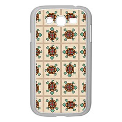 Native American Pattern Samsung Galaxy Grand Duos I9082 Case (white) by linceazul