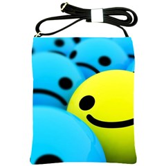 Smile Blue Yellow Bright  Shoulder Sling Bags by amphoto