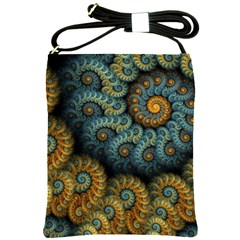 Spiral Background Patterns Lines Woven Rotation Shoulder Sling Bags by amphoto