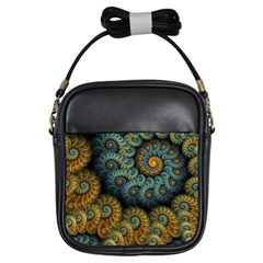 Spiral Background Patterns Lines Woven Rotation Girls Sling Bags by amphoto