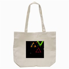 Abstract Triangles Resize Tote Bag (cream) by amphoto