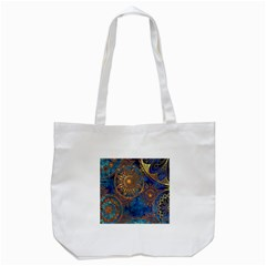 Abstract Pattern Gold And Blue Tote Bag (white) by amphoto