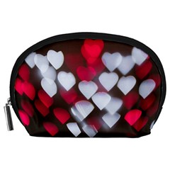 Highlights Hearts Texture  Accessory Pouches (large)  by amphoto