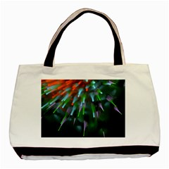Explosion Rays Fractal Colorful Fibers Basic Tote Bag by amphoto