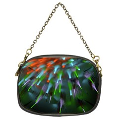 Explosion Rays Fractal Colorful Fibers Chain Purses (two Sides)  by amphoto