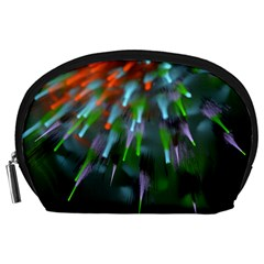 Explosion Rays Fractal Colorful Fibers Accessory Pouches (large)  by amphoto