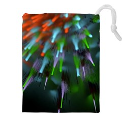 Explosion Rays Fractal Colorful Fibers Drawstring Pouches (xxl) by amphoto