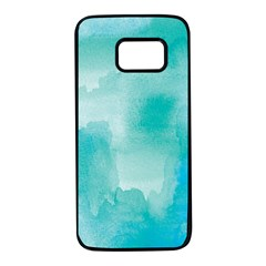 Ombre Samsung Galaxy S7 Black Seamless Case by ValentinaDesign