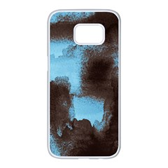 Ombre Samsung Galaxy S7 Edge White Seamless Case by ValentinaDesign