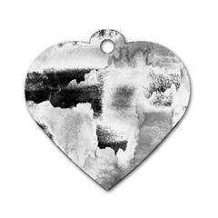 Ombre Dog Tag Heart (one Side) by ValentinaDesign