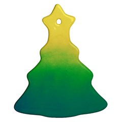Ombre Christmas Tree Ornament (two Sides) by ValentinaDesign