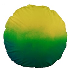 Ombre Large 18  Premium Flano Round Cushions by ValentinaDesign