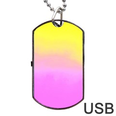 Ombre Dog Tag Usb Flash (one Side) by ValentinaDesign