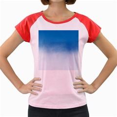 Ombre Women s Cap Sleeve T Shirt by ValentinaDesign
