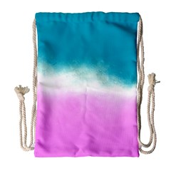 Ombre Drawstring Bag (large) by ValentinaDesign