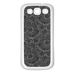 Floral Pattern Samsung Galaxy S3 Back Case (white) by ValentinaDesign