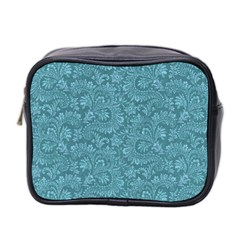 Floral Pattern Mini Toiletries Bag 2 Side by ValentinaDesign