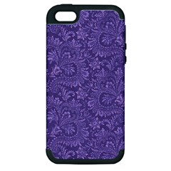 Floral Pattern Apple Iphone 5 Hardshell Case (pc+silicone) by ValentinaDesign