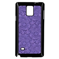 Floral Pattern Samsung Galaxy Note 4 Case (black) by ValentinaDesign
