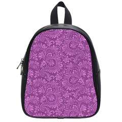 Floral Pattern School Bag (small) by ValentinaDesign