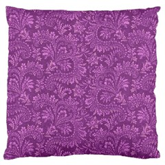 Floral Pattern Large Cushion Case (two Sides) by ValentinaDesign