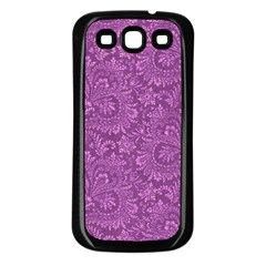 Floral Pattern Samsung Galaxy S3 Back Case (black) by ValentinaDesign