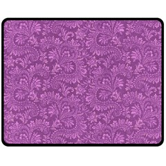 Floral Pattern Double Sided Fleece Blanket (medium)  by ValentinaDesign