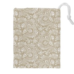 Floral Pattern Drawstring Pouches (xxl) by ValentinaDesign
