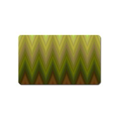 Zig Zag Chevron Classic Pattern Magnet (name Card)