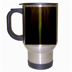 Zig Zag Chevron Classic Pattern Travel Mug (silver Gray) by Nexatart