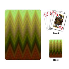 Zig Zag Chevron Classic Pattern Playing Card by Nexatart