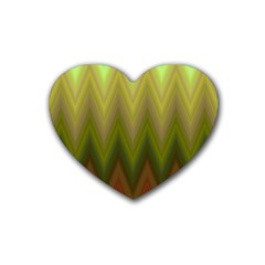 Zig Zag Chevron Classic Pattern Heart Coaster (4 Pack)