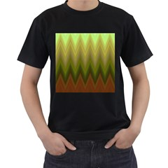 Zig Zag Chevron Classic Pattern Men s T Shirt (black)