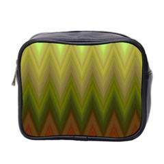 Zig Zag Chevron Classic Pattern Mini Toiletries Bag 2 Side