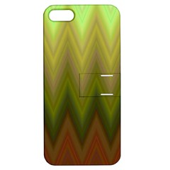 Zig Zag Chevron Classic Pattern Apple Iphone 5 Hardshell Case With Stand