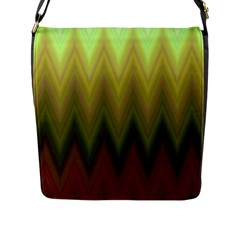 Zig Zag Chevron Classic Pattern Flap Messenger Bag (l)  by Nexatart