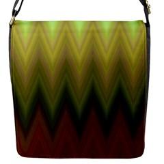 Zig Zag Chevron Classic Pattern Flap Messenger Bag (s) by Nexatart