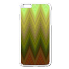 Zig Zag Chevron Classic Pattern Apple Iphone 6 Plus/6s Plus Enamel White Case by Nexatart