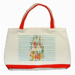 Watercolor Bouquet Floral White Classic Tote Bag (red) by Nexatart