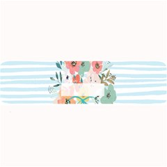 Watercolor Bouquet Floral White Large Bar Mats