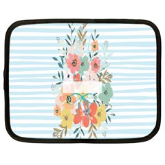Watercolor Bouquet Floral White Netbook Case (xxl)  by Nexatart
