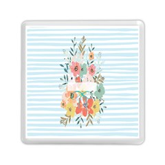 Watercolor Bouquet Floral White Memory Card Reader (square)  by Nexatart