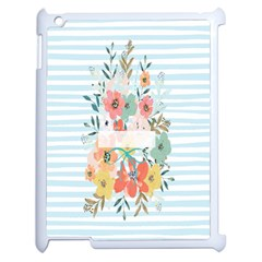 Watercolor Bouquet Floral White Apple Ipad 2 Case (white) by Nexatart