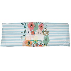 Watercolor Bouquet Floral White Body Pillow Case (dakimakura) by Nexatart